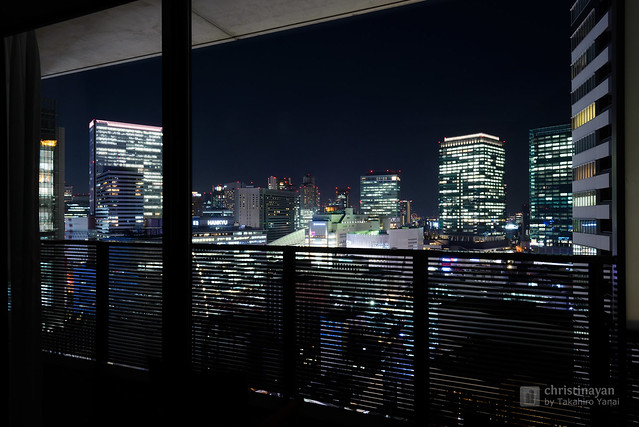 City view from balcony, Harmonie Embrassee Osaka (アルモニーアンブラッセ大阪).