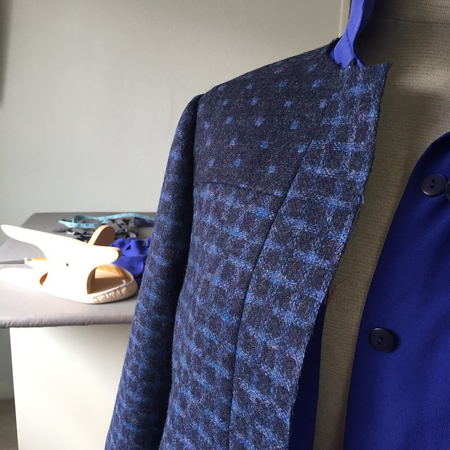 wool blue Mood fabric jacket