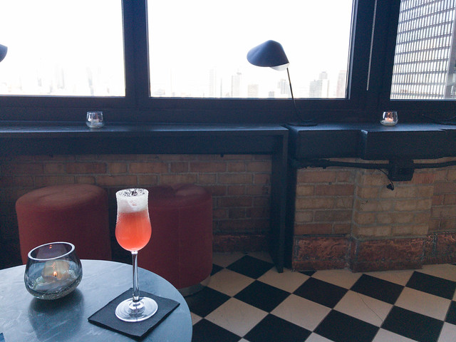 The Flapper - Ketel One Vodka, Di Saronno, lemon, pineapple, Angostura bitters, Moet & Chandon NV Champagne