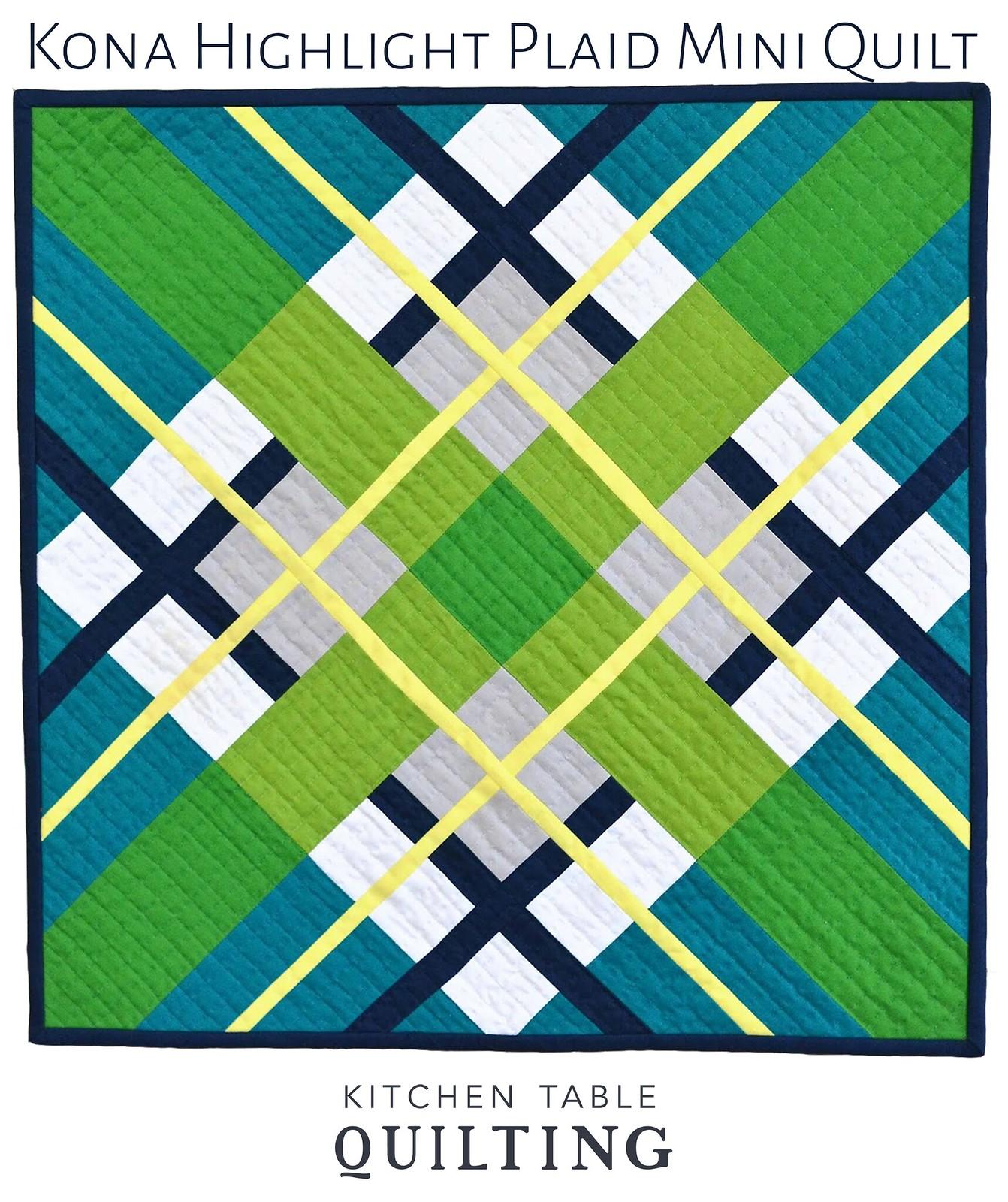 Kona Highlight Plaid Mini Quilt