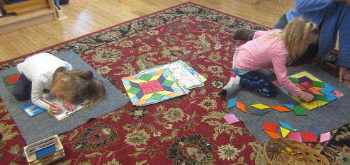 fraction families and color shape patterns