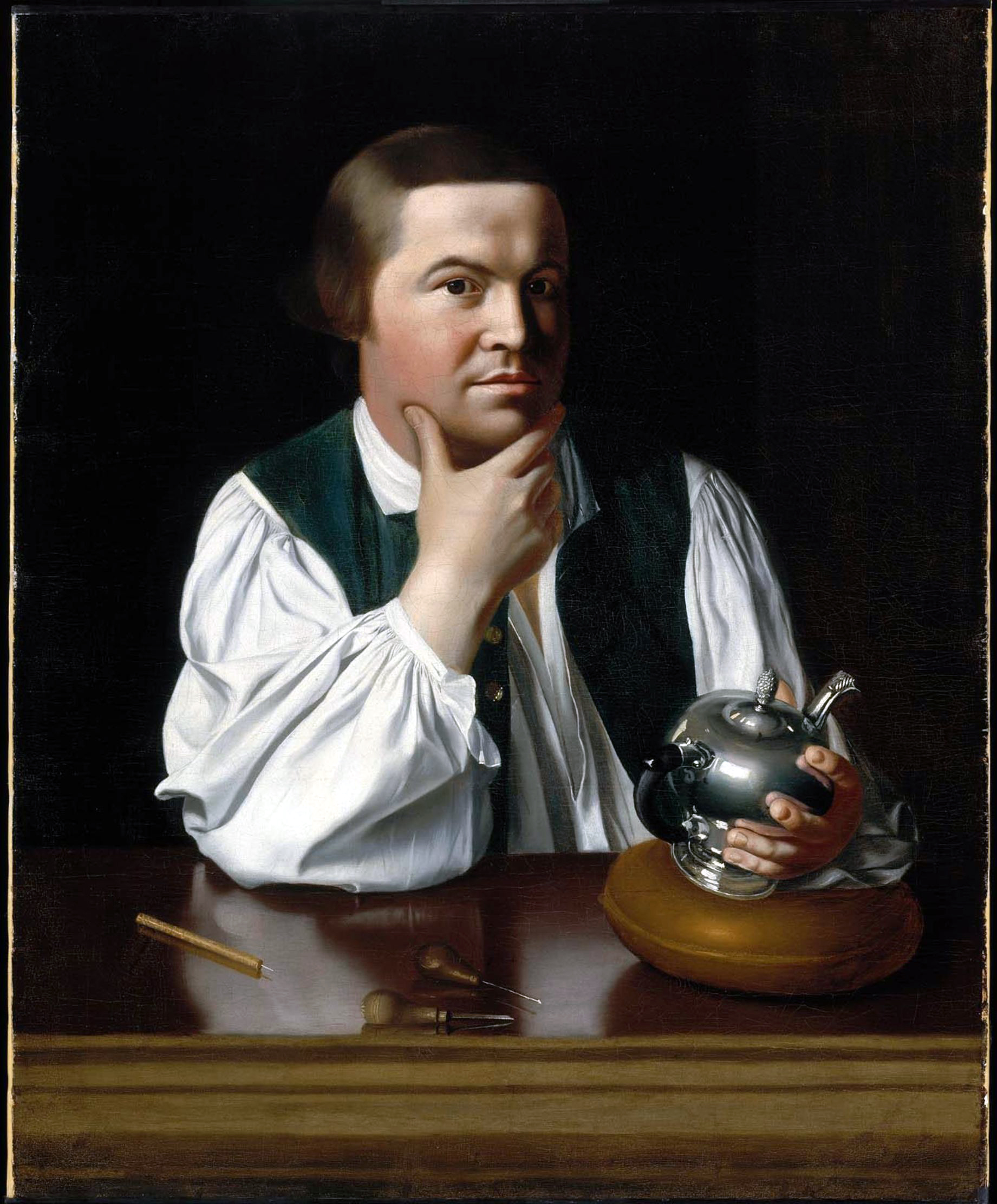 Silversmith Paul Revere and several other messengers on horseback sounded the alarm that the regulars were leaving Boston.