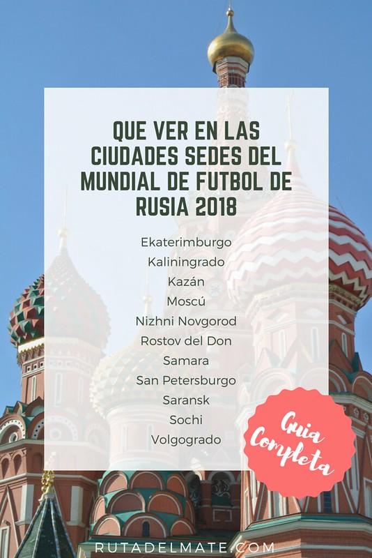 Que ver en las ciudades sedes del mundial de futbol de Rusia 2018