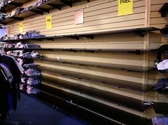 More empty merchandise racks