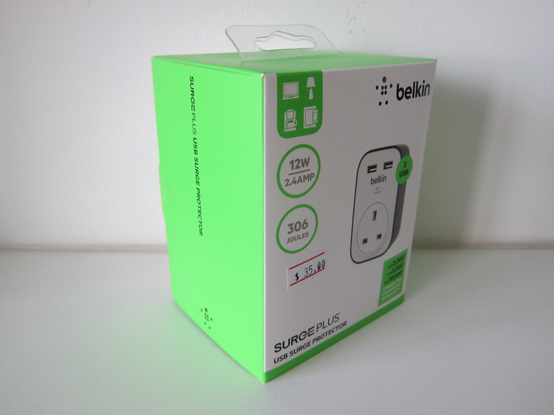 Belkin SurgeCube 1 Outlet Surge Protector with USB Charging - Box