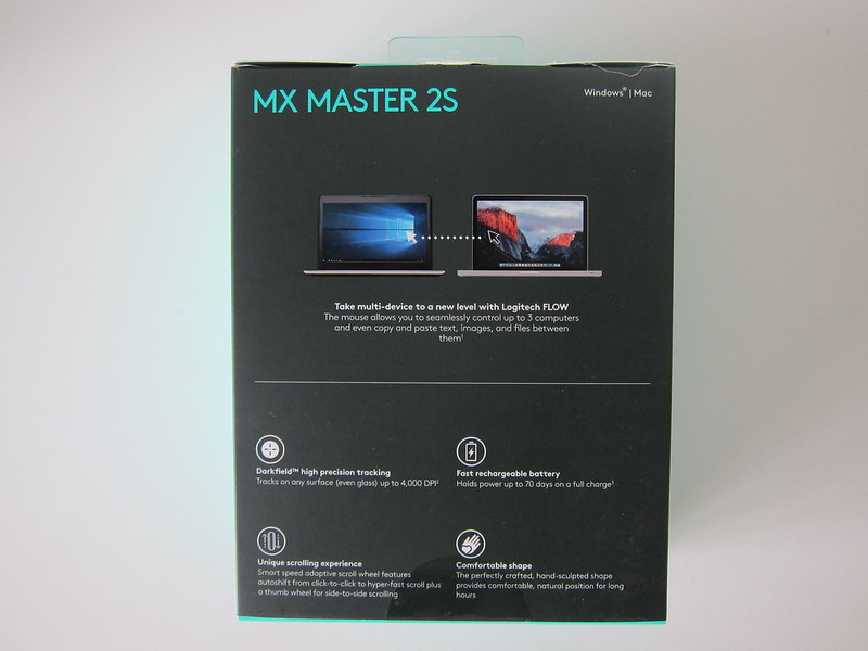 Logitech MX Master 2S Wireless Mouse - Box Back