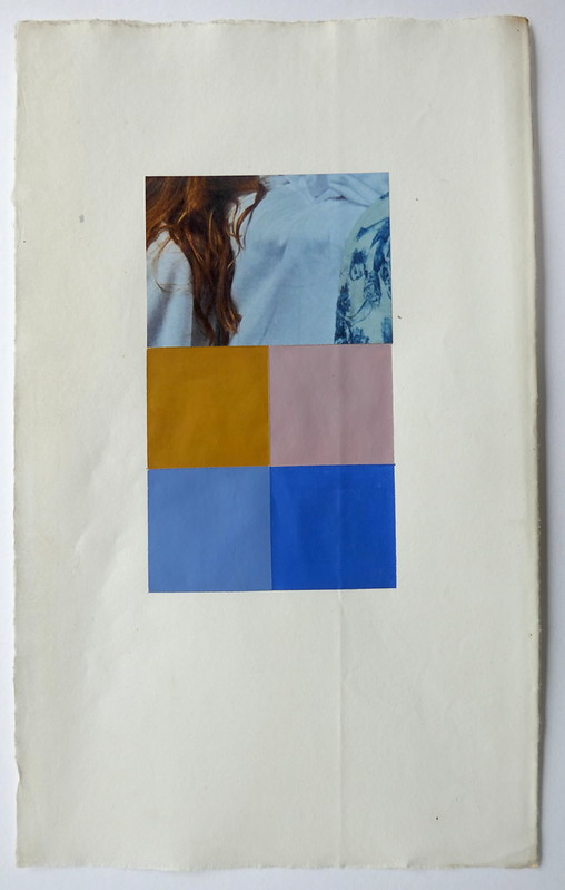 Gabrielle Kroese, Sequences Vogue2.2, acrylic and collage on old paper