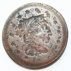 'double brockage' cent 1-obv