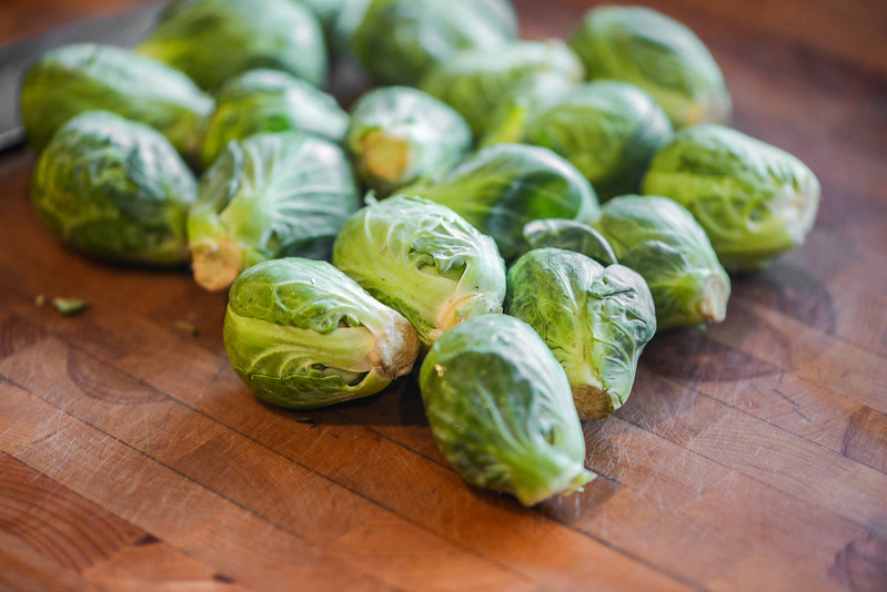 Spicy Grilled Brussels Sprouts and Broccoli