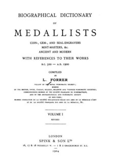 Forrer Biographical Dictionary of Medallists title page
