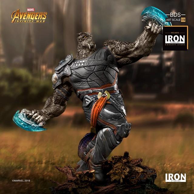 力量極為強大的黑暗教團將軍!! Iron Studios Battle Diorama 系列《復仇者聯盟3:無限之戰》黑曜獵手 Cull Obsidian 1/10 比例決鬥場景雕像作品