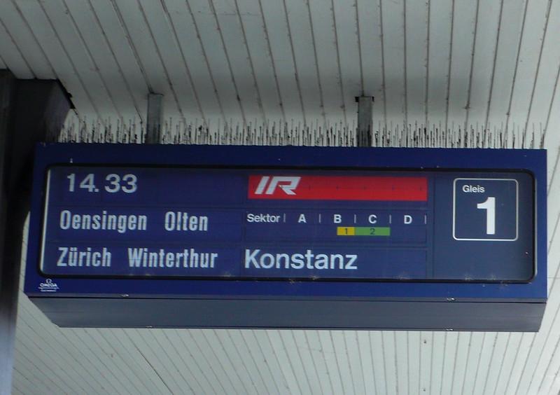 Train Service Indicator, Solothurn Station