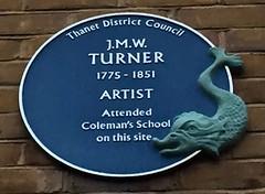 Photo of Joseph Mallord William Turner blue plaque