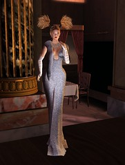 Glitter Glam Gown in Sky Letituier Sigma Hair 6
