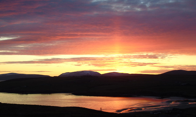 Sunset over Scapa