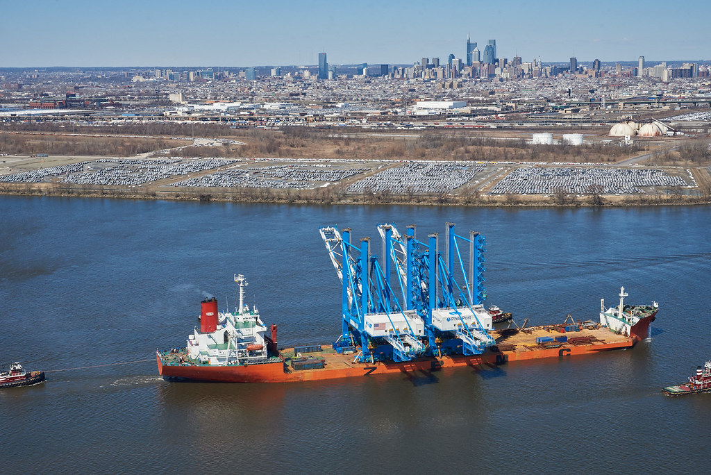 PhilaPort Receives First Two Super Post-Panamax Cranes