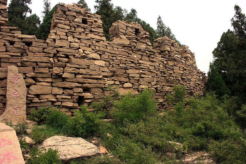 Remnants of the Great Wall of Qi built in time of the Warring States period