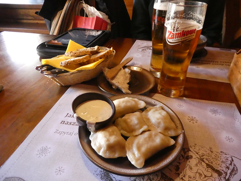 Dumplings for lunch at Pierogarnie, Wroclaw