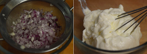 Onion Cucumber Raita cooking steps by GoSpicy.net