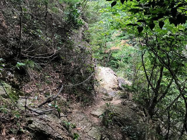 仙ヶ岳 白谷道 鎖場