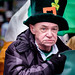 Marcher St. Patrick's Day Parade Liverpool.
