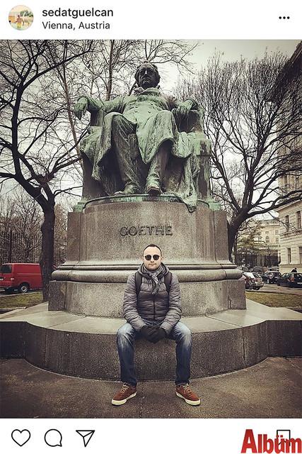 Yurdışı gezileri ile tanınan Sedat Gülcan, Vienna'daydı.
