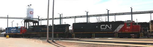 BLE 902, BCOL 4651, GTW 4927, Illinois, Stevens Point, 25 Mar 18