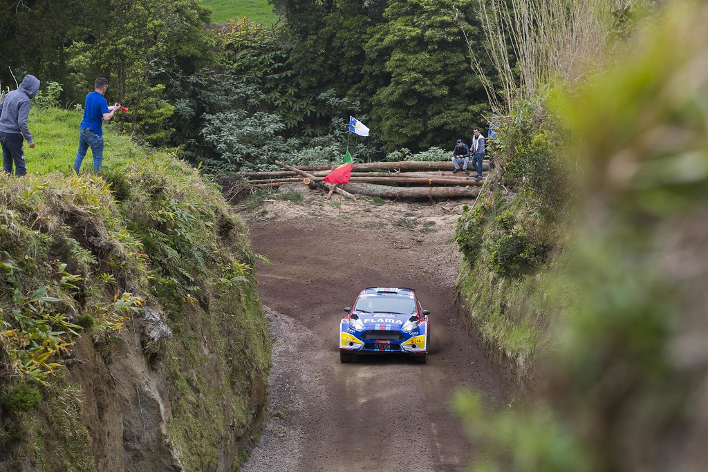 32 ALVES Joaquim (prt), EIRO Sancho (prt), FORD FIESTA R5, action during the 2018 European Rally Championship ERC Azores rally,  from March 22 to 24, at Ponta Delgada Portugal - Photo Gregory Lenormand / DPPI