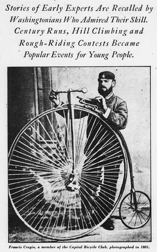 1881 DC high wheeler cyclist