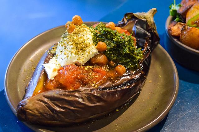 Roasted Aubergine at The Good Egg, Kingly Court #aubergine #eggplant #goodegg #lunch #london