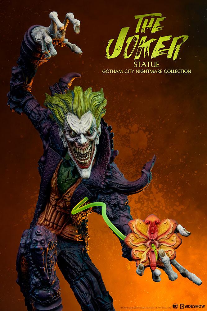 無限蔓延的惡夢驚悚現身!! Sideshow Collectibles 高譚市夢魘【小丑】Gotham City Nightmare Collection The Joker 全身雕像作品