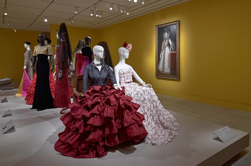 Installation view of The Glamour and Romance of Oscar de la Renta at the Museum of Fine Arts, Houston, October 8, 2017–January 28, 2018. Photo by Thomas R. DuBrock.
