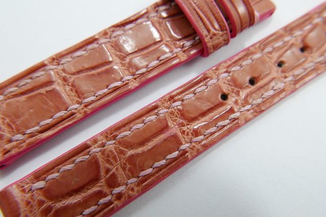 c5a745933c5 14mm 14mm Light Pink Genuine Crocodile Skin Leather Watch Strap ...