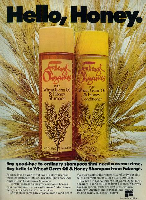 Faberge Organics Wheat Germ Oil & Honey Shampoo and Conditioner