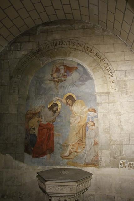 2017-18 Restauration Fresque Bapteme du Christ