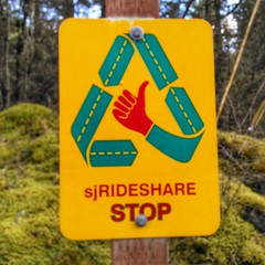 "Most places, ""ride share"" means Uber. On San Juan Island, it's basically sanctioned hitchhiking!"