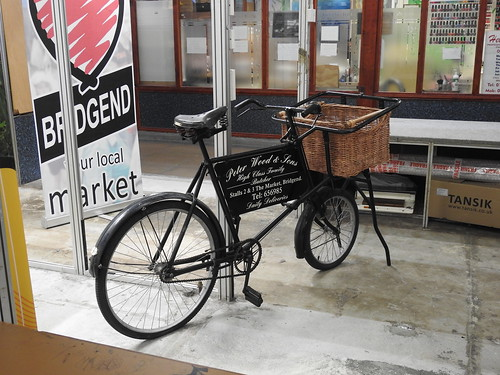 Advertising Bicycle, Indoor Market, Bridgend 24 March 2018