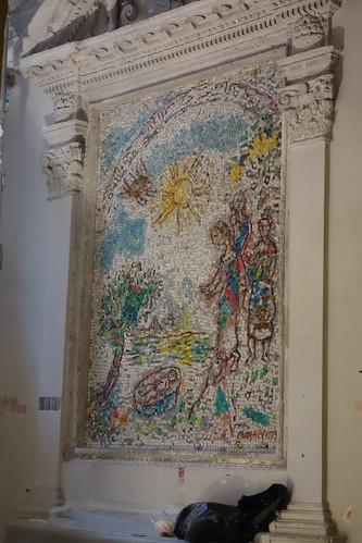 Moses Saved from the Nile -  Chagall Mosaic - La Cathedrale Notre-Dame de la Nativite de Vence - Vence, Côte d'Azur, France