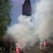 """""""GREVE"""" au pied de la tour de Bretagne, """"symbole de la puissance économique"""" de la ville de #Nantes lors de la #manif19avril..."""