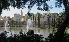 Le lac et l'île, Jardin Jnan Assabil (جنان ااسبيل), Parc de Boujloud, Fès, Maroc.