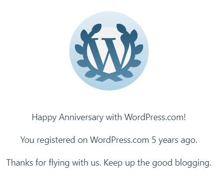 Blogging milestone