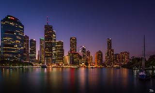 Brisbane City Lights Reflected