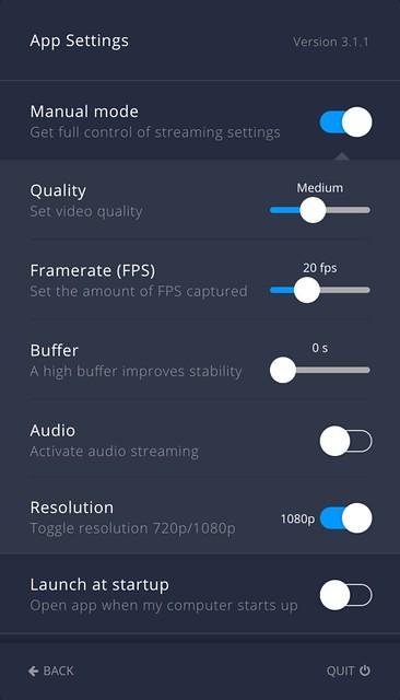 Airtame Mac - App Settings - Advanced