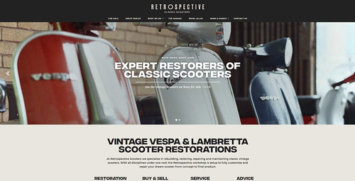 RETROSPECTIVE SCOOTERS - new website