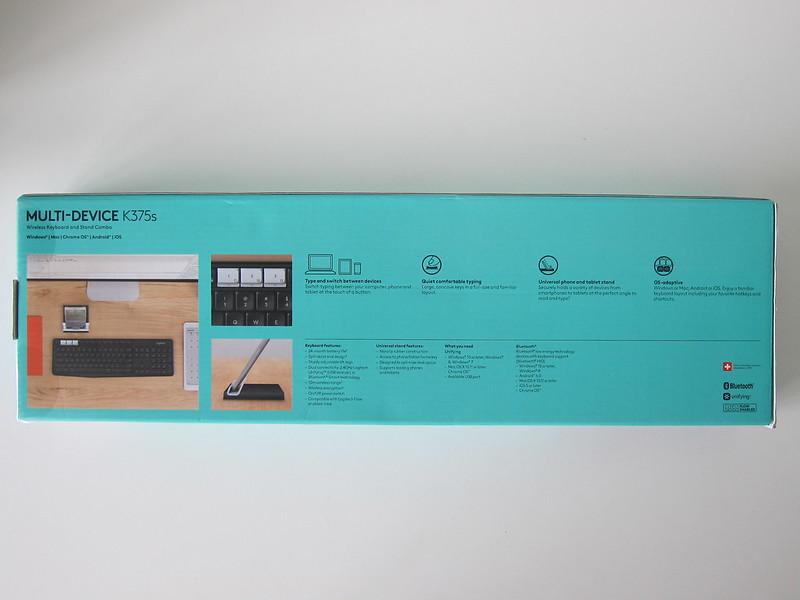 Logitech K375s Multi-Device Wireless Keyboard - Box Back