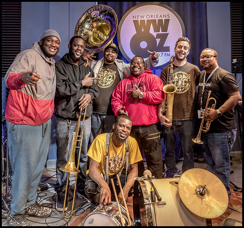TBC Brass Band. Day 2 of our Spring Membership Drive - 3.15.18. Photo by Marc PoKempner.