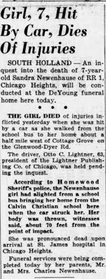 Times Tues Mar 7, 1950, p.5 Girl Killed by Car