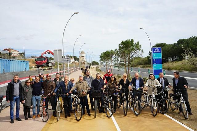 Inauguració del carril bici Esplugues-Barcelona