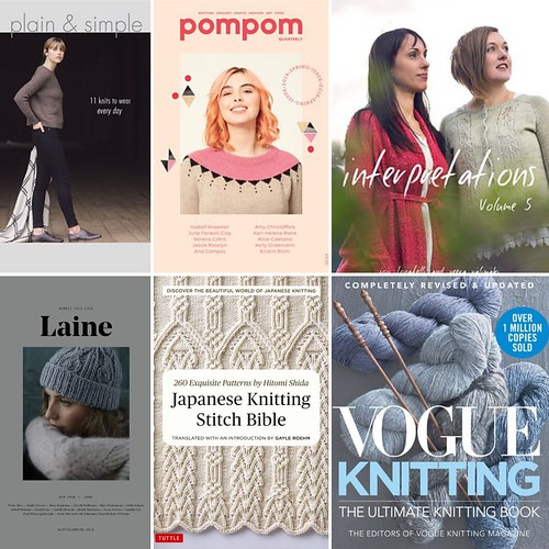 Check out some of the new books including some back issues of Laine and Pom Pom Quarterly!