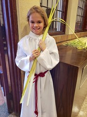 Violet Handing Out Palms On Palm Sunday